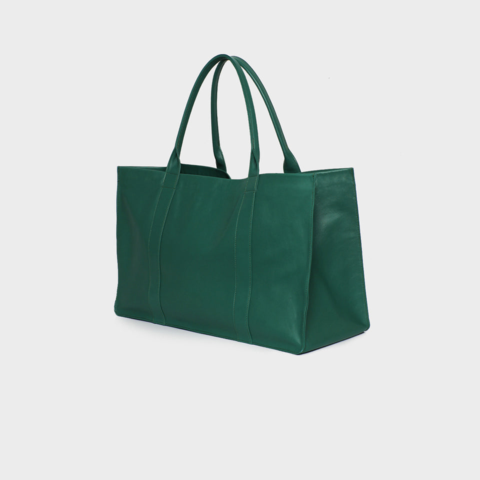 Bottle Green Grocer Bag
