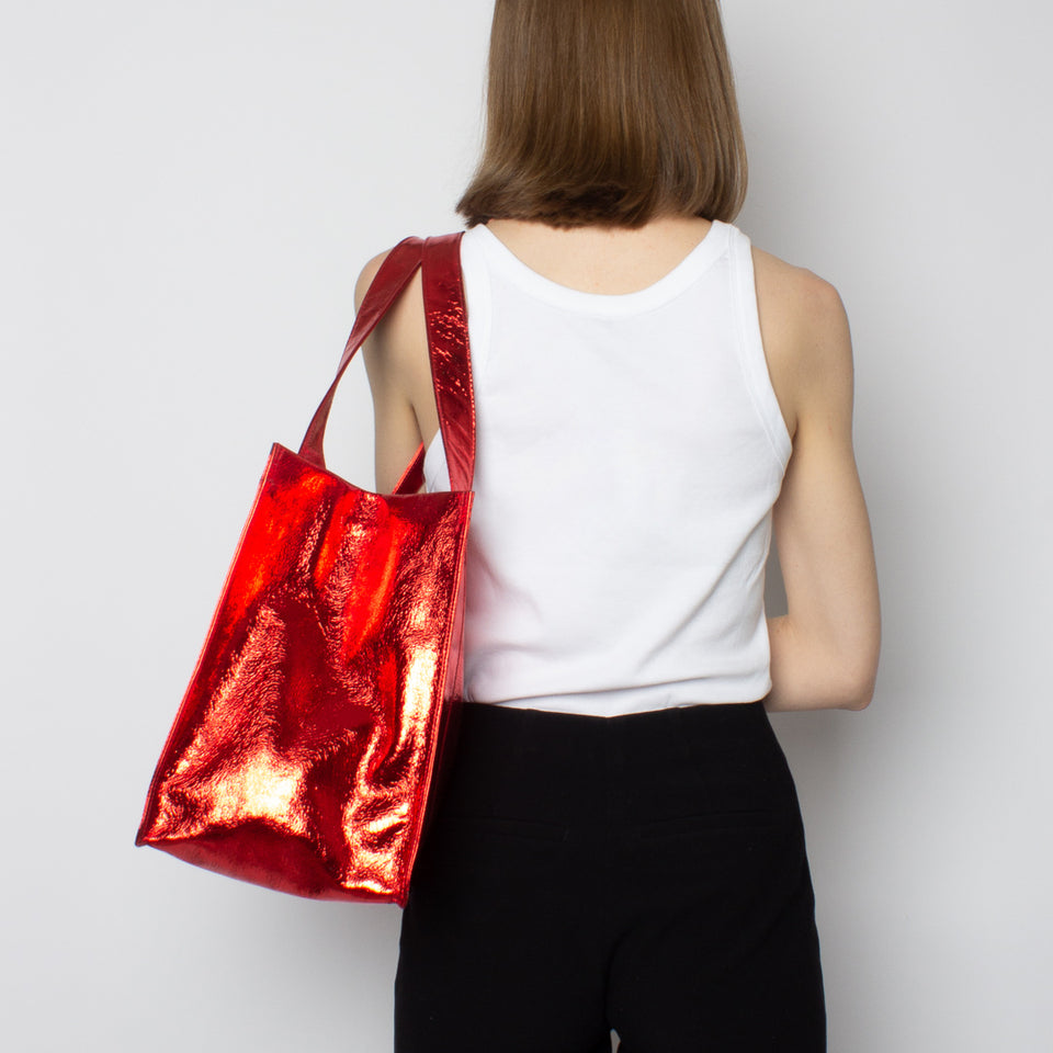 Grocer Bag Original Metallic Red