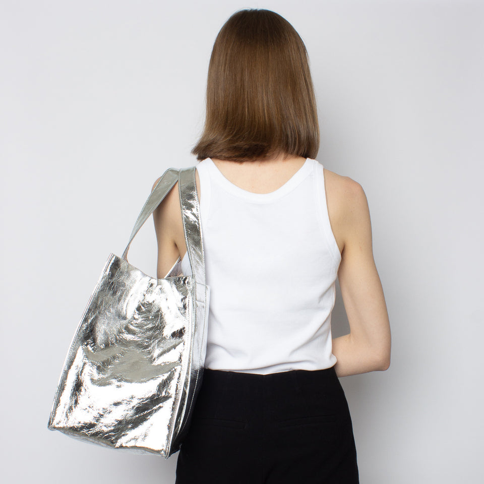 Grocer Bag Original Metallic Silver