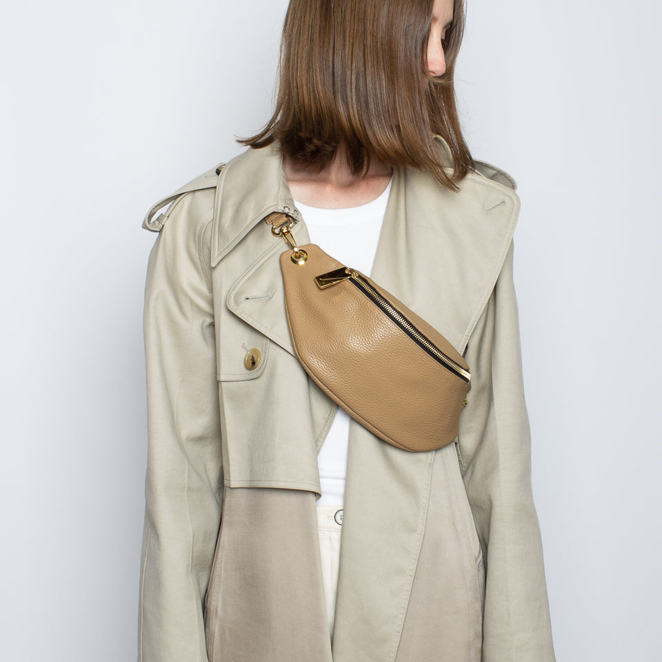 Crescent Belt Bag Grain Beige
