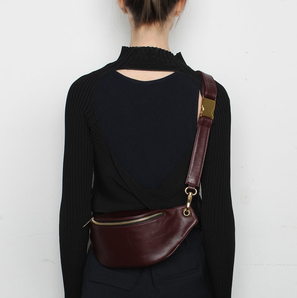 Crescent Belt Bag Wine