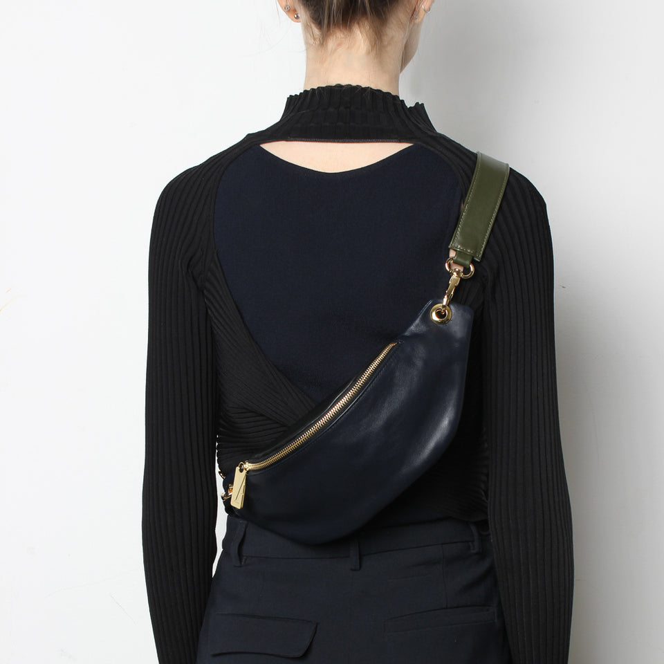 Crescent Belt Bag Smooth Navy Mix