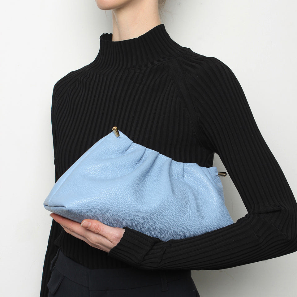 Pleat Clutch Blue