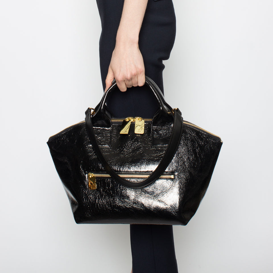 Carry All Handler Midi Metallic Black