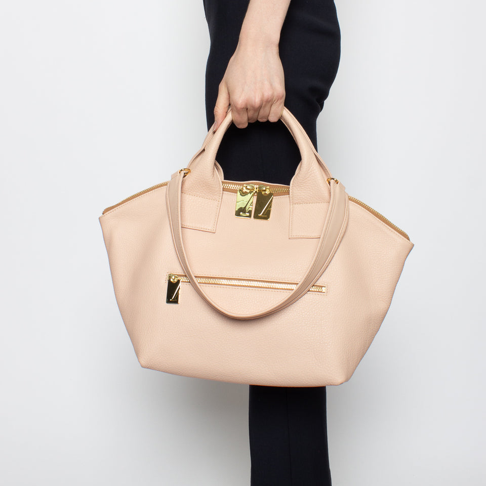 Carry All Handler Midi Grain Nude
