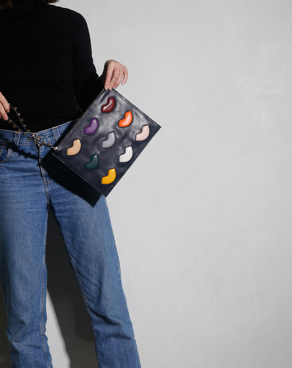 Pouch Clutch De Lip Navy