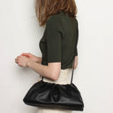 Pleat Clutch Black