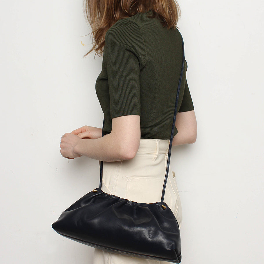 Pleat Clutch<br>Navy