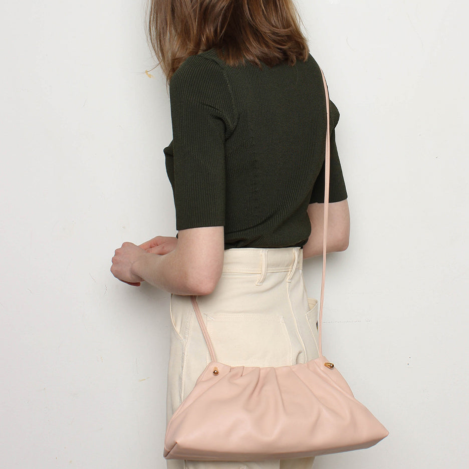 Pleat Clutch Pure Pink