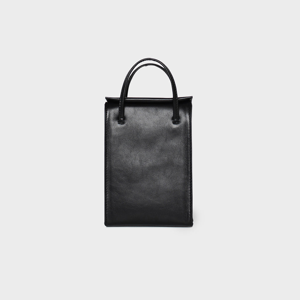 Slim Box Tote Mini Black