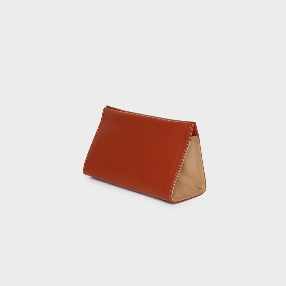 Triangle Clutch Petite Terracotta