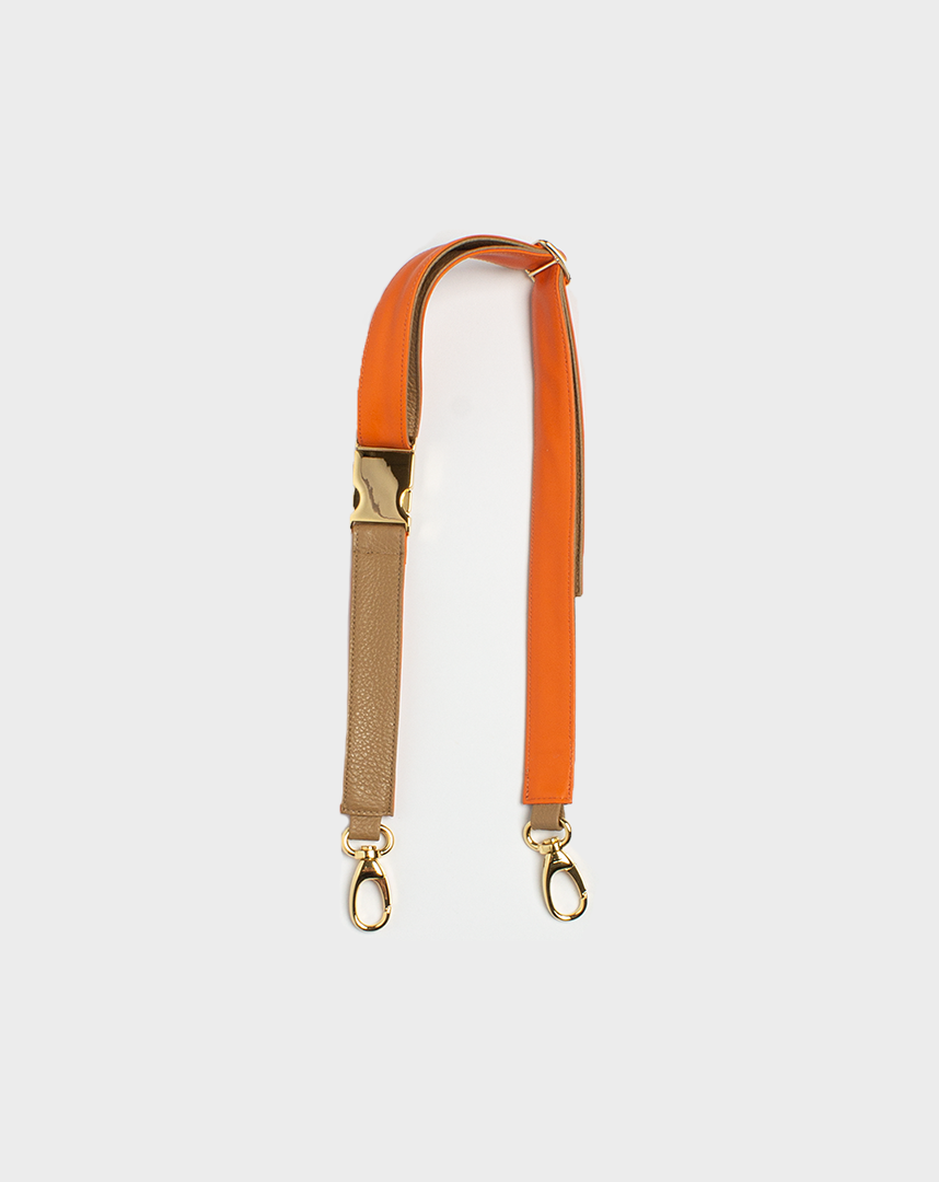 Belt Bag Strap Orange Beige