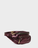 Belt Bag Wine Metallic-Belt Bag-A-ESQUE