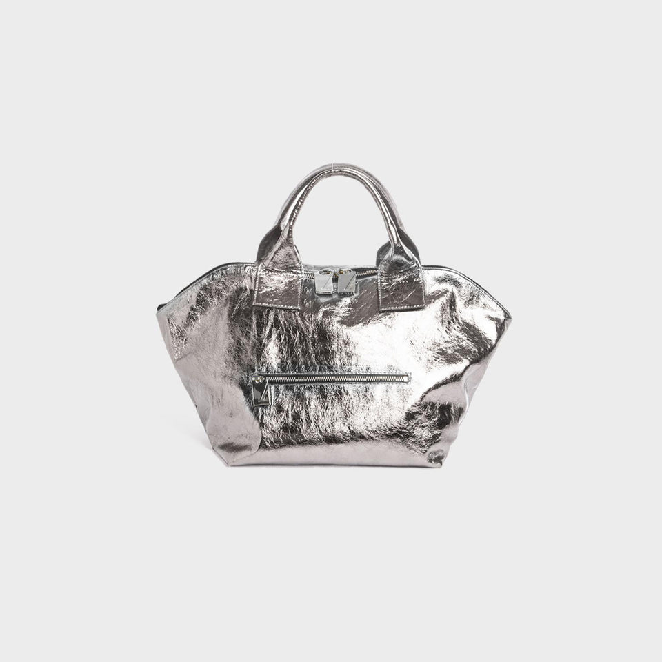 Carry All Handler Midi Metallic Silver