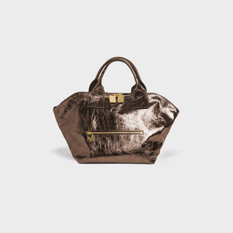 Carry All Handler Midi Metallic Pewter