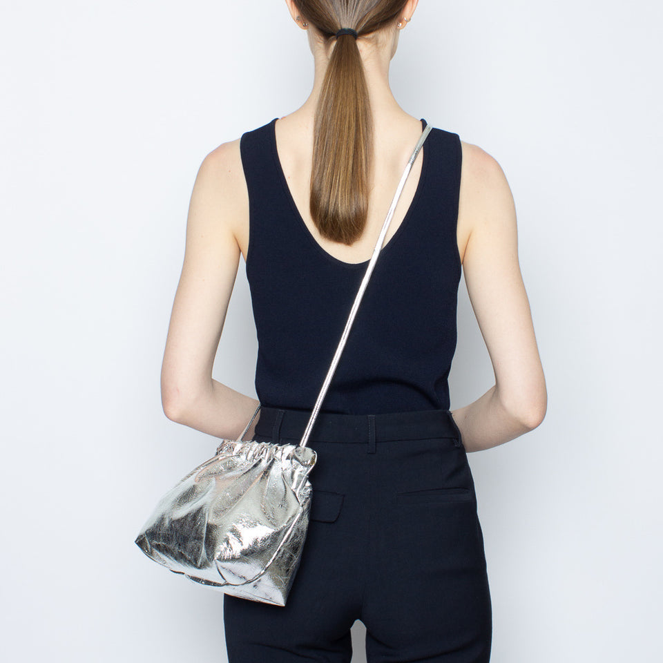 Bar Bag Square Metallic Silver