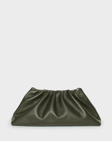 Pleat Clutch Khaki