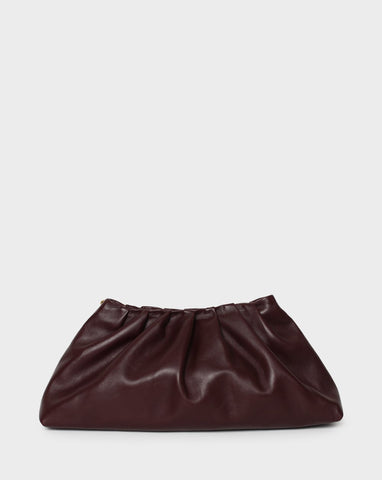 Pleat Clutch<br>Wine