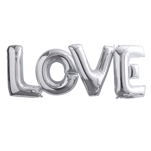 Luftballon Girlande 'Love' Silber
