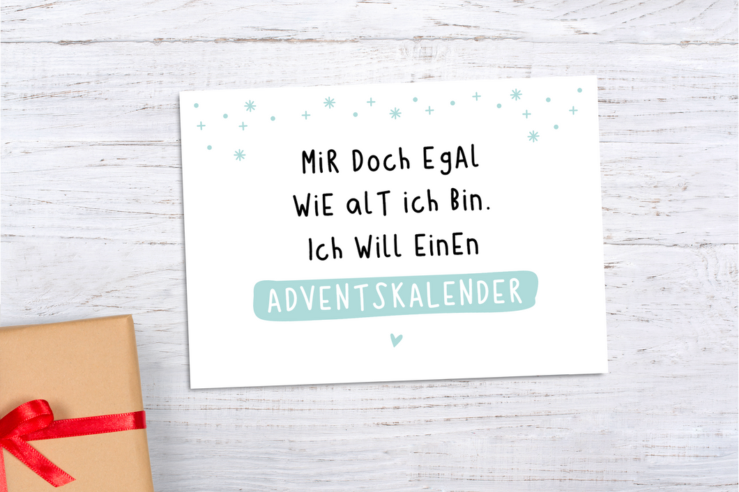Postkarte 'Adventskalender' Mint A6