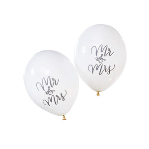 10 Mr & Mrs Ballons Weiss