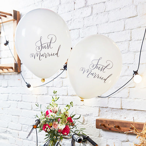 Just Married Luftballons Deko