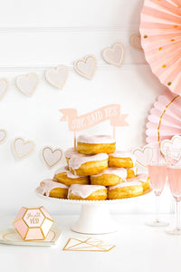 She Said Yes Cake Topper Brautparty JGA Hochzeit Kuchenstecker Rosa Deko