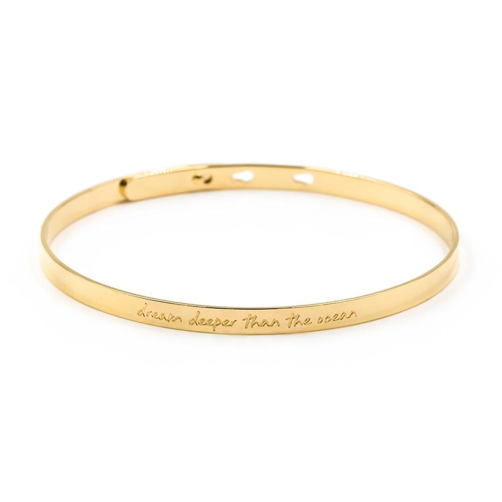 Dream Bangle Armreif Schmuck Armband Gold