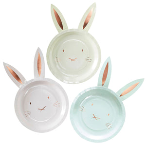 8 Pappteller Ostern Hase Pastell