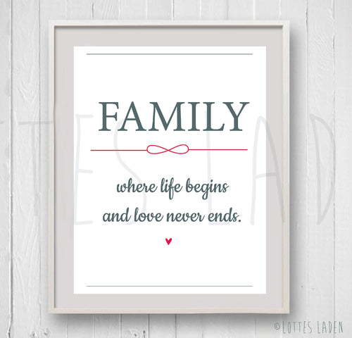 Family Poster A4