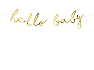 Hello Baby Girlande Gold