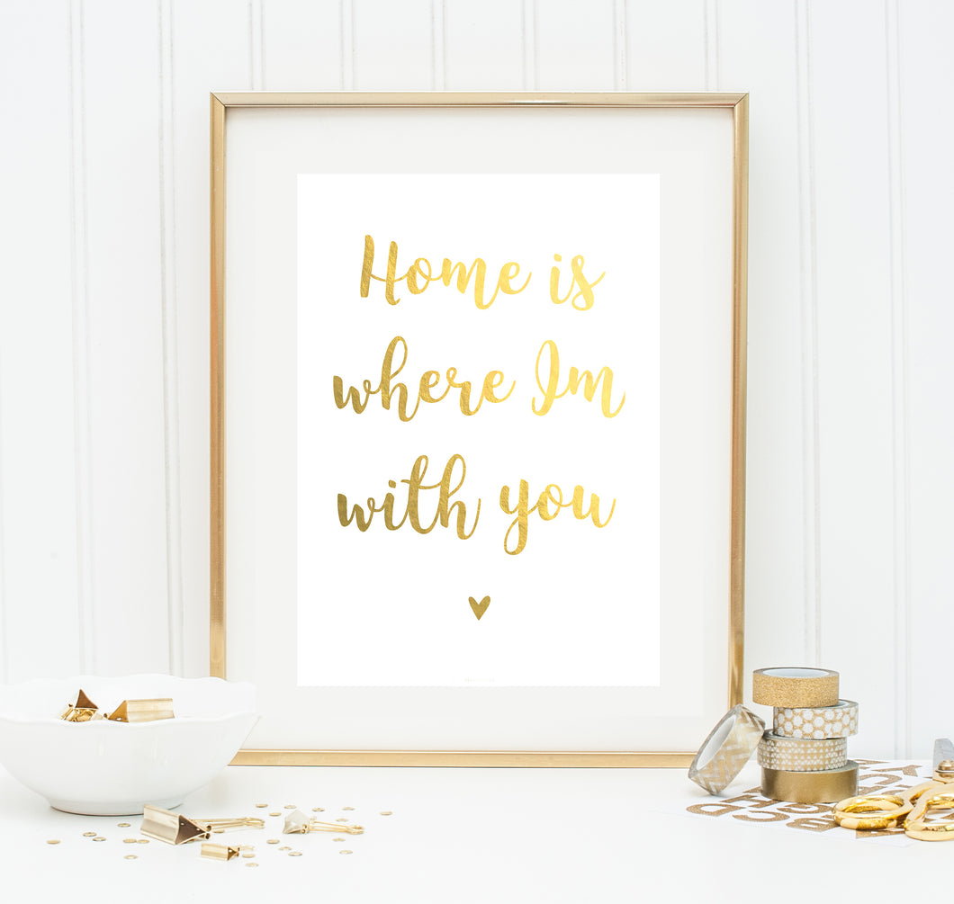Gold-Poster 'Home' A4