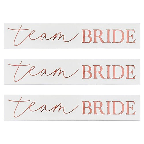16 Rosegold Tattoos Brautparty Team Bride