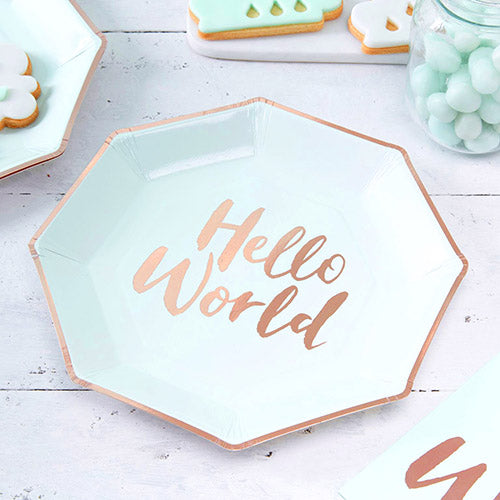 Teller 'Hello World' Baby Mint
