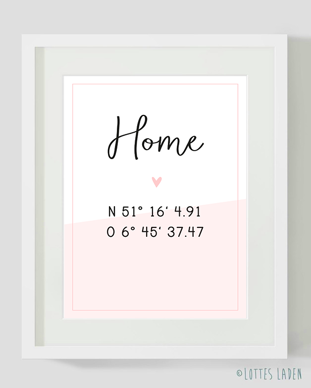 Home Poster Breitengerade Individuell