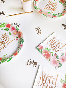 8 Teller Party Tischdeko Babyparty Blumen