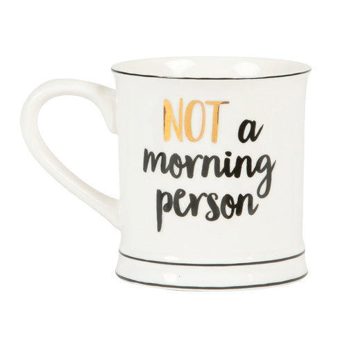 Tasse 'Not A Morning Person' Becher Gold