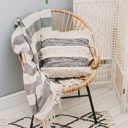 Deko Kissen Boho Chic Interior Stripes