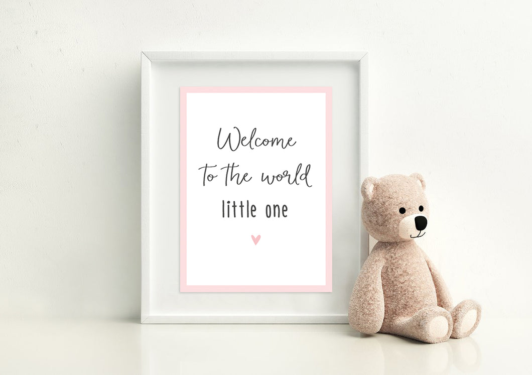 Poster 'Little One' Baby Rosa
