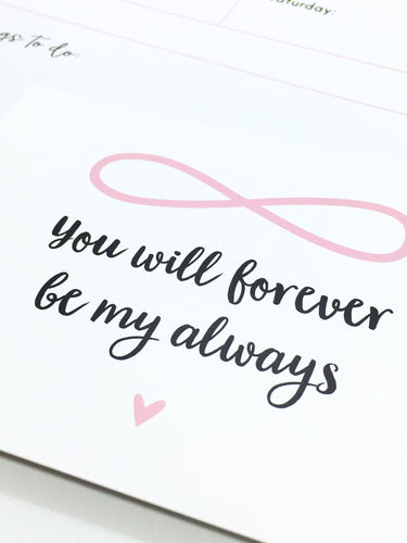 Postkarte 'Forever My Always'