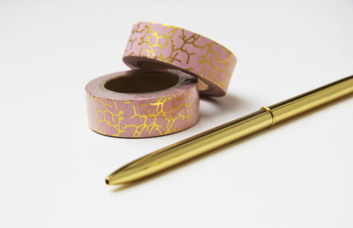 Washi Tape Goldzweige