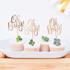 Baby Cake Topper Gold