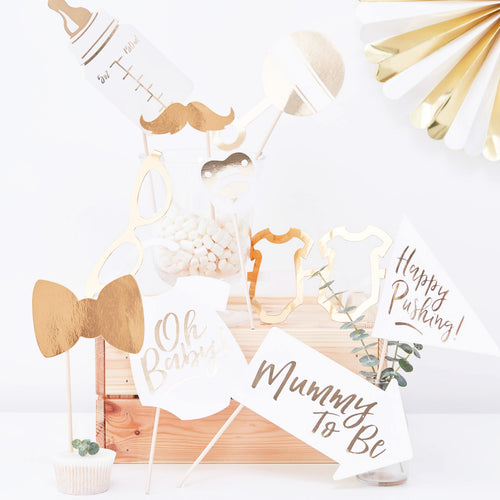 Fotobox Babyparty Gold