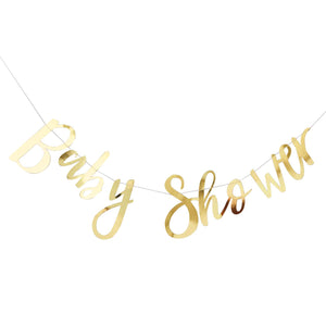 Baby Shower Girlande Gold Babyparty