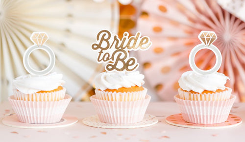 Cupcake Topper Bride To Be Rosa Gold