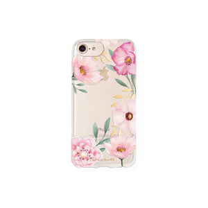Handy-Hülle iPhone Case 8, 7 & 6 Aquarell Blumen