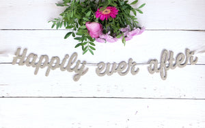 Girlande 'Happily Ever After' Gold Glitzer