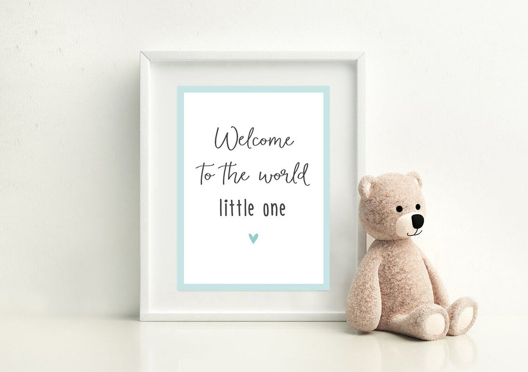 Poster 'Little One' Baby Mint