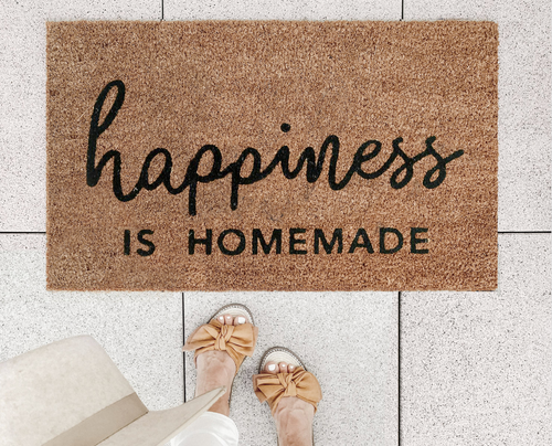 Fußmatte 'Happiness Is Homemade'