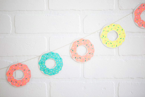 Donut Girlande Party Deko Pastell